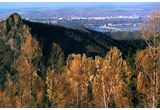 Mountains range surrounding Yenisei