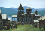 A museum of Wooden architecture (Taltsy) near Irkutsk city