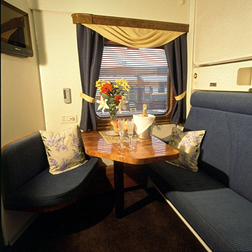Gold Class Cabin sitting area