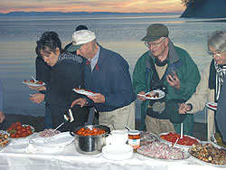 Picnic on shores of Lake Baikal